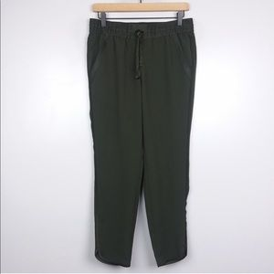 LOFT Dark Olive Green Drawstring Pull On Pants
